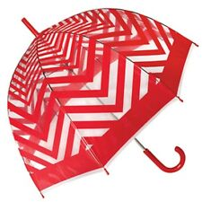 Metro Red Clear Dome PVC Umbrella - Birdcage, Fashion, Adult