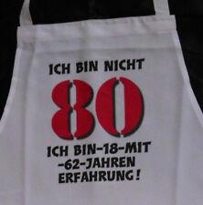 Nicht 80 Schürze für Erwachsene Geburtstag Scherzartikel Grill Koch Gag