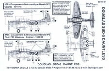 Berna Decals 1/48 Douglas Sbd Dauntless Dive Bomber French Navy