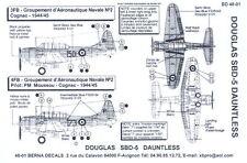 Berna Decals 1/48 DOUGLAS SBD DAUNTLESS Dive Bomber French Navy