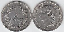 Gertbrolen 5  FRANCS LAVRILLIER en  Nickel  1937  Qualité TTB+