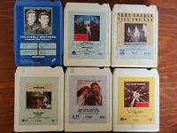 Vintage 1977  8 Track Tapes lot of 6 Tested