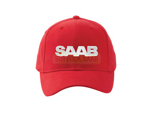 SAAB GENUINE FITTED BASEBALL CAP HAT RED SM/MD BRAND NEW RARE GIFT PRESENT