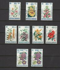 Indonesia 1965/6  - 9 stamps  'Flowers' MLH see scans