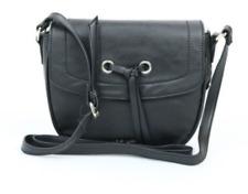 Nine West NWT $49 Black Bohemian Beltway Medium Shoulder-Bag Flap Saddle Bag