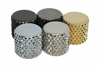 """Flat Top Brass Knob for 1/4"""" shaft pots with Extra Heavy Knurl"""