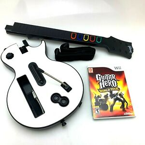 Guitar Hero Nintendo Wii White Gibson Les Paul Wireless Controller w/ Game