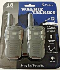 Cobra Cxt195 Walkie Talkie 2-Way Radio Set 16-Mile Range 22-Channel Rechargeable
