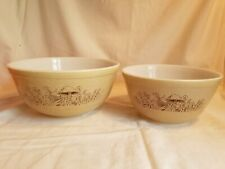 pyrex forest fancies mushroom nesting mixing serving bowls 402 and 403