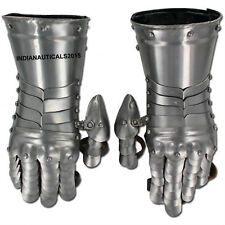 Medieval Knight Gauntlets Armor Functional Gloves For Battle