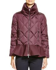 NEW Moncler Vouglette Peplum Down Coat Jacket Paffer  size 1 $1230 NEW