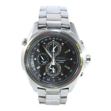 Seiko Criteria SNAD67 P1 Flightmaster Silver Black Dial Men's Quartz Watch