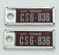 Vintage 1967 Disabled American Veterans License Plate Key Chain Missouri