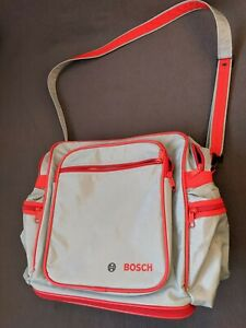 Bosch Grey & Red Rucksack/Expandable Bag with Multiple Tool Pockets & Strap