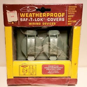 Vintage Bell Outlets &  Cover Plate Saf-T-Lok Weatherproof Outdoor New/Old Stock