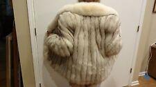 Saga Natural Blue Fox Fur Coat / Jacket, sz. M