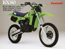 1984 Kawasaki Kx80 Vintage Motorcycle Ad Dirt Bike Poster 27x36 9Mil Paper