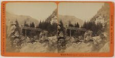 Suisse Tête-Noire Photo Charnaux Stereo PL28Th1n26 VintageAlbuminec1875