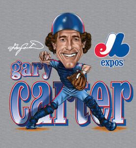 Gary Carter Caricature Signature Cotton Sport Grey Unisex S-2345XL T-Shirt W344