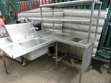 More details for industrial commercial stainless steel corner sink  unit and shelfs catering