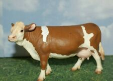 Brown & White Simmental Dairy Cow by Schleich Farm Life 2008