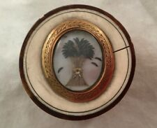 Antique French Miniature Mourning Box With Hair Art Sheath Of Wheat Decoration