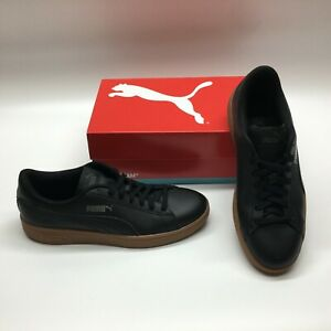 Puma Smash V2 365215 Black Leather Lifestyle Casual Sneakers Shoes Mens 9
