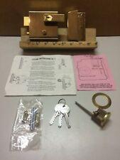 Vintage Yale Brasslux Brass Cylinder Double Security Door Lock Standard No.1