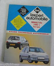 Revue technique EXPERT AUTOMOBILE 332 1995 Renault Clio + 1993 tous types