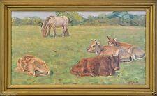 Künstlerische Malerei von 1900-1949 mit Kuh-Motiv