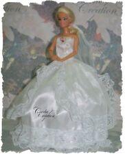 Magnifique Robe  De Bal de Princesse Matiage Poupée Barbie Mannequin Dress