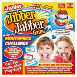JUNIOR Jibber Jabber Party Game The Hilarious Mouthpiece Game Christmas Xmas UK