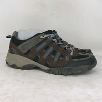 Merona Mens Brown Black Leather Hiking Boots Lace Up Round Toe Size 8.5 M