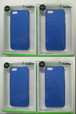 "4 x QUALITY BELKIN ""Indigo"" Micra Sheer Matte Case for iPhone  F8W095qeC03 [F33]"