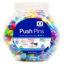 180x Push Pins dans bocal couleurs assort dessin ~ Home/Office/école