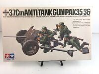 Vintage Rare: TAMIYA 3.7Cm ANTITANK GUN (PAK 34/35)  #35 - 1/35 Scale Model Kit