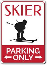 Ski Trails Circle Sign Ski Resort Directional Arrow Sign Skier Gift Metal Sign