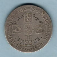Great Britain - Christening Medal.  RD in Cypher etc on William 111 Crown.  Fine
