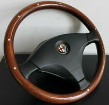 Steering Wheel ALFA ROMEO 156 Wood Leather Rare Sport OEM MOMO Wooden 1997-2002