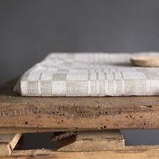vintage woven tablecloth baltic linen table home decor textile home gray gift