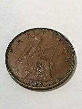 1936 Great Britain Farthing VF+ #19505
