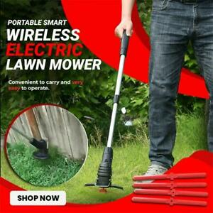 Handheld Rechargeable Cordless Electric Lawn Mower Weed Eater Portable Smart Wir