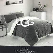 UGG Harley Full/Queen 3 Pieces Comforter Set-1 Comforter 2 Shams In Charcoal