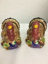 Thanksgiving Turkey salt and pepper shakers New Debco