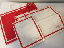 COACH Shopping Bags Set of 6 Red Signature Used