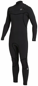 Billabong Men's Furnace 4/3mm Chest Zip Full Wetsuit - Black - New