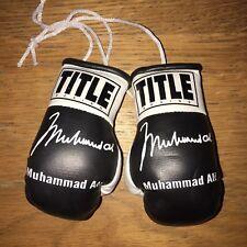 Muhammad Ali Autographed Mini Boxing Gloves Signed memorabilia Gift Tribute