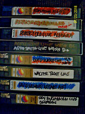 8 VHS LIVE TAPES AEROSMITH,ROY BUCHANAN,TROWER AND MORE