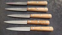 lot de 6 couteaux LA FOURMI en bois d'OLIVIER 10,5 CM  FRANCE