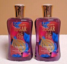 Bath and Body Works Brown Sugar and Fig Shower Gel x 2; 10 oz Each